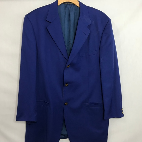 Versace Other - Versace Classic V2 Blue 3 Button Wool Blazer